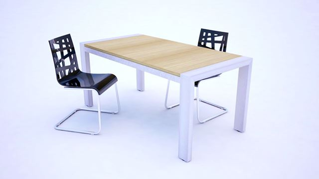 Aluminium asztal